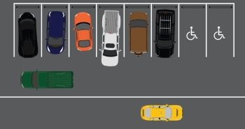 Parking space layout