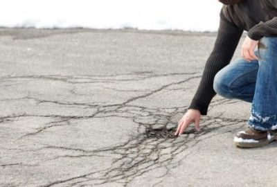Potholes based on frost and winter