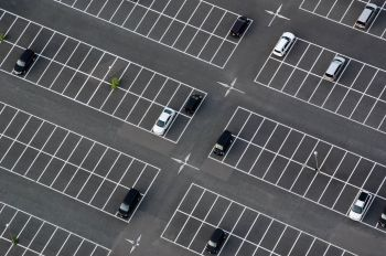 Parking Area Aerial Shot